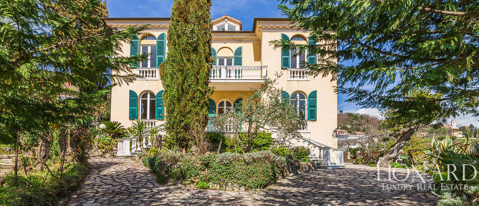 stunning art nouveau villa with sea view in la spezia