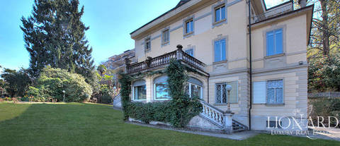 art nouveau villa with view over lake maggiore in stresa