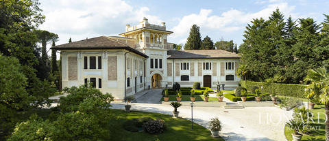 wonderful art nouveau villa in the marche