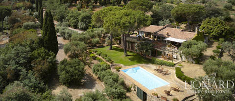 villa with sea view in porto ercole argentario