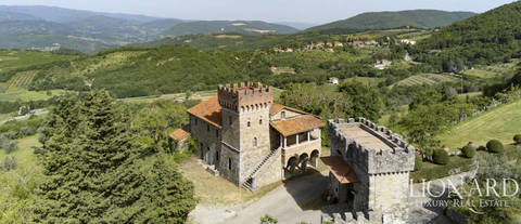 wonderful castle for sale in arezzo