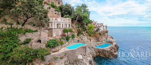 luxury villa by the sea in furore amalfi coast