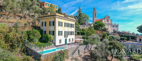 wonderful luxury villa for sale in chiavari