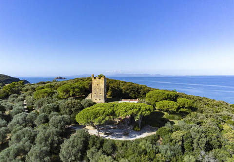 historical manor with access to the sea in punta ala