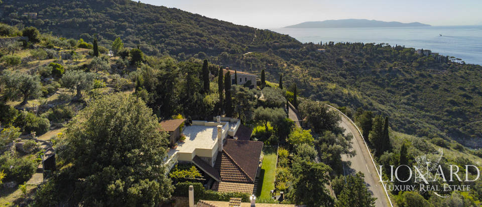 Villa with panoramic view of Elba Island for sale in Argentario