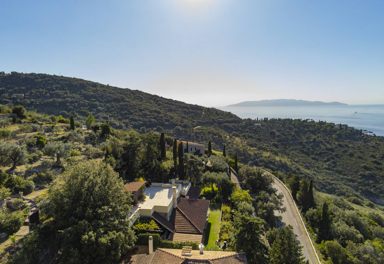 sea view villa for sale in monte argentario