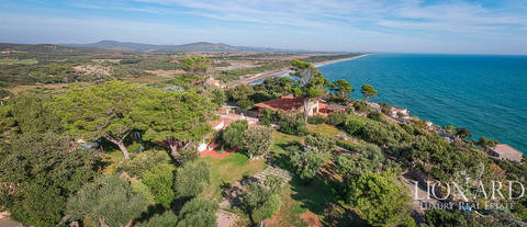 luxury home with view of the sea ansedonia