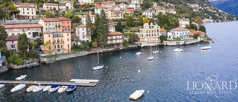 villa in front of lake como for sale in moltrasio
