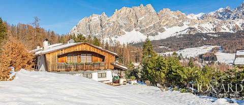 luxurious chalet for sale in cortina dampezzo
