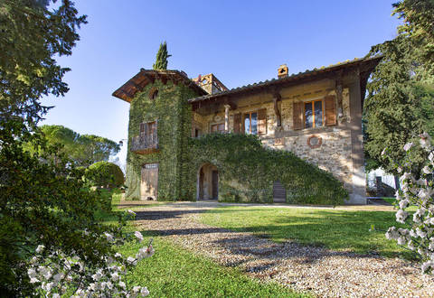 elegant farmstead for sale in greve in chianti