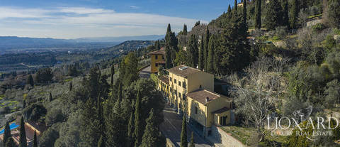 luxury villa with panoramic view for sale in fiesole