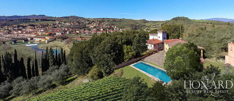 stunning villa for sale in reggello