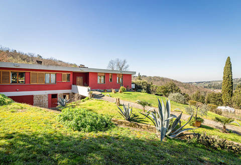 luxury villa with panoramic view for sale in florence