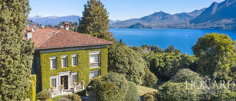 historical luxury villa with a view of lake maggiore