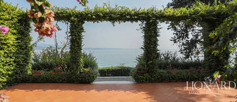historical lake front villa by lake garda