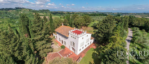 villa with pool and olive grove san miniato pisa