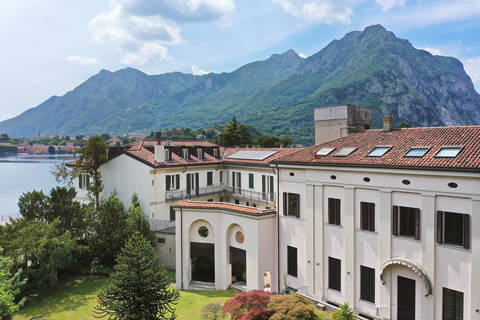 historical luxury building on leccos lakeside