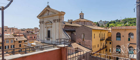 luxury penthouse panoramic terrace for sale rome