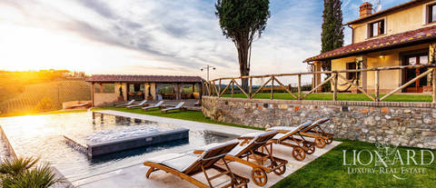luxury villa san gimignano pool