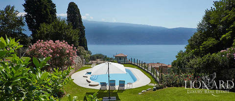 luxury villa with a view by lake garda