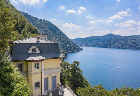 historical villa with view of lake como