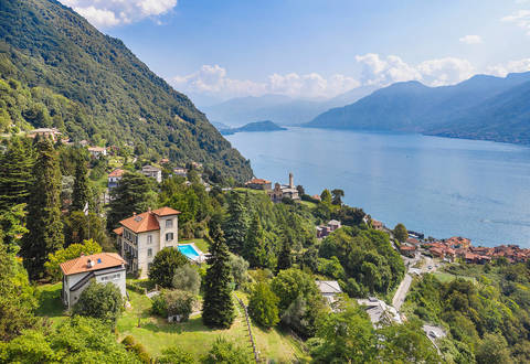 luxury estate with a view of lake como