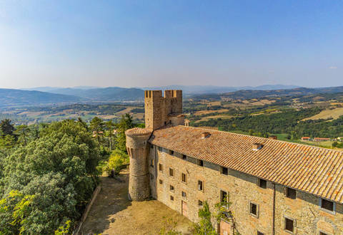 stunning medieval castle near perugia
