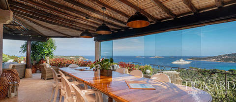 exclusive villa with sea view porto cervo