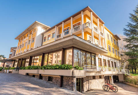prestigious hotel in the heart of boario terme