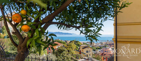 villa with sea view for sale in santa margherita ligure