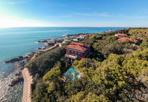 luxury villa with private beach for sale castiglioncello
