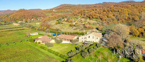 luxury agritourism resort for sale by lake bolsena