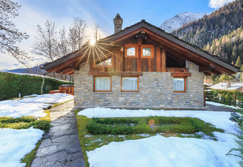 luxury chalet in courmayeur
