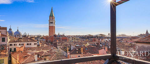 luxury penthouse with panoramic terrace for sale in venice