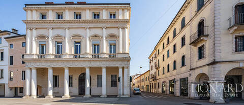 old renovated palace in the centre of vicenza