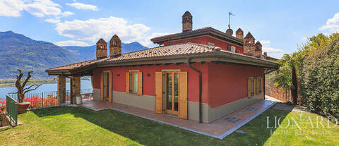 luxury villa with a view of lake iseo
