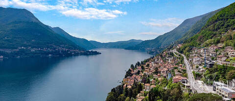 luxury villa with a view of lake como