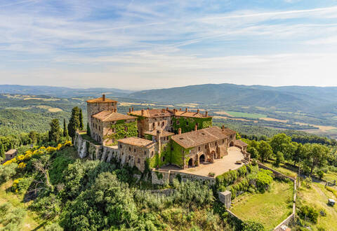 charming medieval castle in tuscany