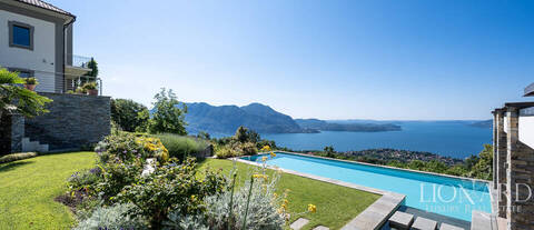 luxurious estate with a view of lake maggiore