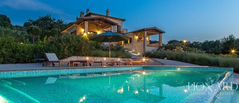elegant luxury villa with pool in umbria