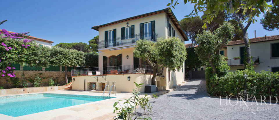 enchanting villa for sale in castiglioncello